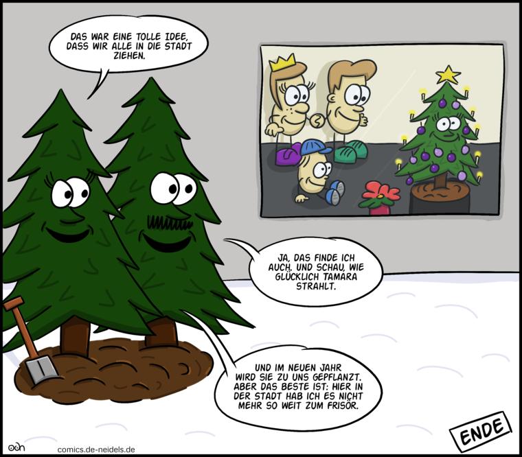 frohe weihnachten comics von oliver de neidels. Black Bedroom Furniture Sets. Home Design Ideas